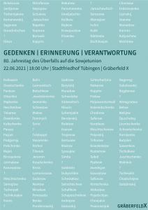 Namenstafel der sowjetischen Kriegsgefangenen des Gräberfeldes X
